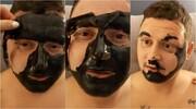 بلایی که ماسک بر سر یک مرد آورد / عکس