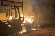 حمله موشکی شب گذشته به سفارت آمریکا در عراق / فیلم