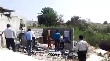 احضار عوامل تخریب خانه یک زن سرپرست خانوار در بندر عباس