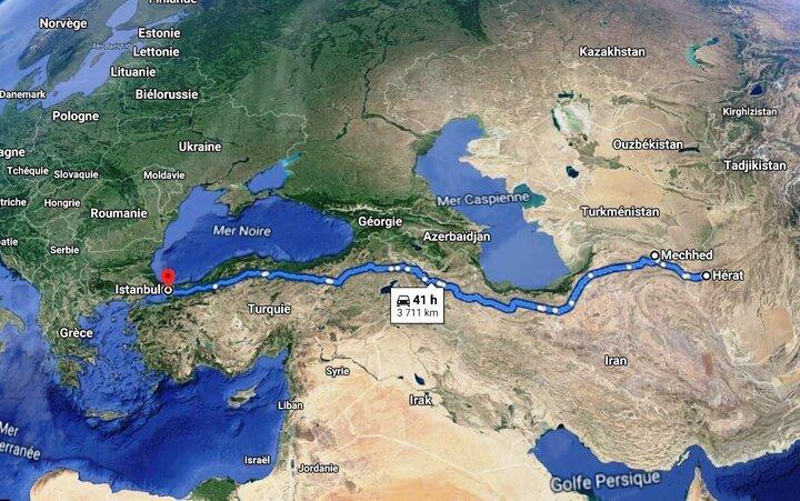 اتصال افغانستان به اروپا توسط راه آهن خواف