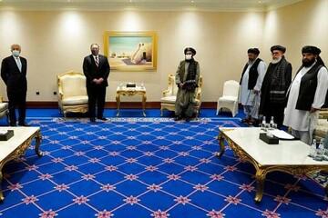 دیدار نمایندگان طالبان و دولت افغانستان با وزیر خارجه آمریکا