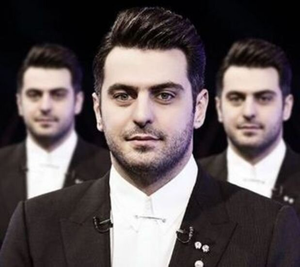 شوخی علی ضیا با نقاش معروف / عکس