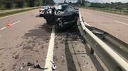 تصادف وحشتناک خودرو شاسی بلند با کامیون / فیلم