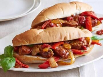 ساندویچ سوسیس و ماکارونی + طرز تهیه