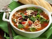 سوپ اسفناج و پاستا + طرز تهیه