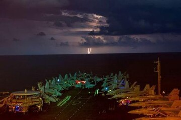 بیانیه ارتش آمریکا درباره استقرار ناو هواپیمابر در خلیج فارس