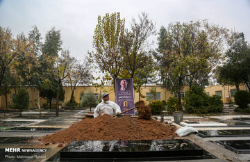 مراسم تشییع و خاکسپاری مرحوم پرویز پورحسینی / گزارش تصویری