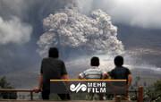 فوران آتشفشان در اندونزی / فیلم