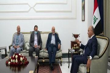رئیس جمهور عراق ترور شهید فخری زاده را محکوم کرد