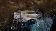 سقوط پراید به داخل نهر آب در گلپایگان / فیلم