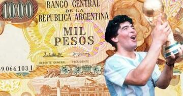 تصویر مارادونا روی اسکناسهای آرژانتین / عکس