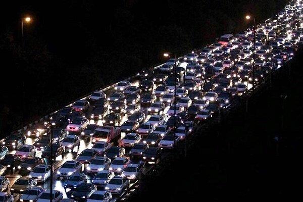 ترافیک در محور چالوس - کرج سنگین است