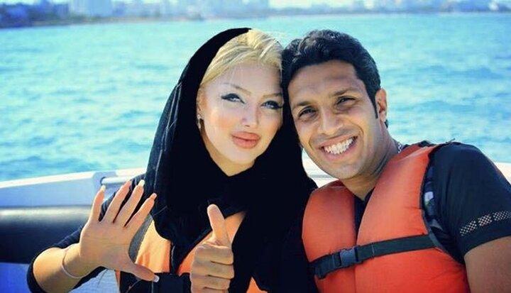 تفریحات لاکچری سپهر حیدری و همسرش / عکس