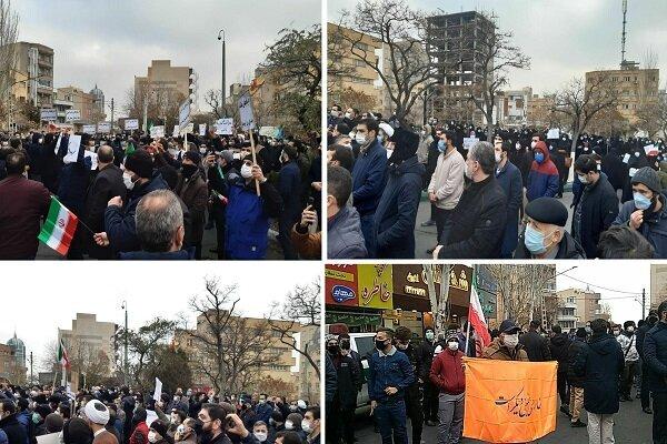 تجمع مردم تبریز در مقابل کنسولگری ترکیه