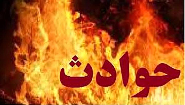 وقوع آتش سوزی در پاساژ مرکزی رباط کریم / عکس