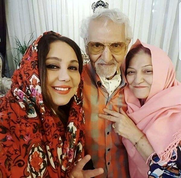 بهنوش بختیاری در آغوش والدینش + عکس
