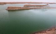 پدید آمدن دریاچه در دل کویر لوت/ فیلم