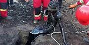 نجات کارگر گرفتار شده در مخزن سوخت در ورامین
