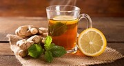چای زنجبیلی با عسل و لیمو برای درمان گلو درد + طرز تهیه