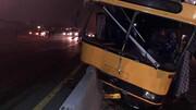 برخورد خونین اتوبوس با گاردریل در پاکدشت