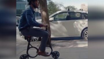دوچرخه الکتریکی عجیب و تاشو / فیلم