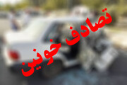 آتش گرفتن خودرو در محور بستان آباد- تیکمه داش / ۲ نفر فوت شدند
