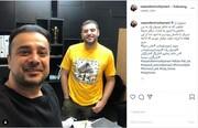 تیپ متفاوت علی ضیاء خارج از تلویزیون  / عکس