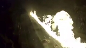 صحنه انفجار وحشتناک تانکر حامل سوخت در بزرگراه / فیلم