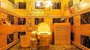 توالت لاکچری با روکش طلا / فیلم