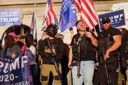 درگیری شدید بین هواداران دونالد ترامپ و پلیس در واشنگتن
