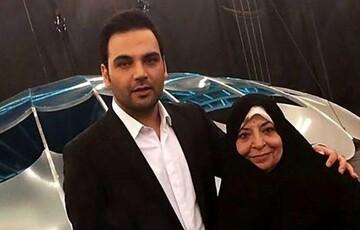 احسان علیخانی در کنار مادرش