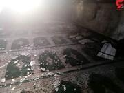 مسجد الشجره کازرون آتش گرفت