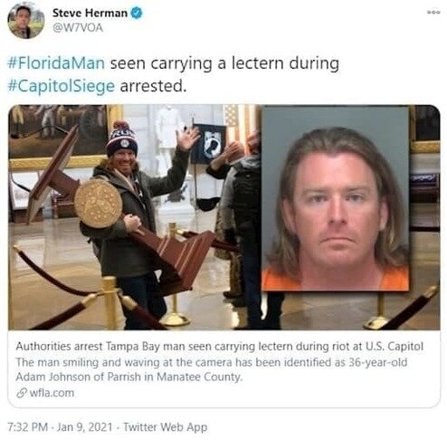 بازداشت دزد تریبون کنگره آمریکا /عکس