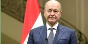 دیدار برهم صالح با رئیس حشد شعبی