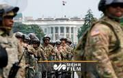 استقرار گارد ملی در واشنگتن در پی شورش هواداران ترامپ / فیلم