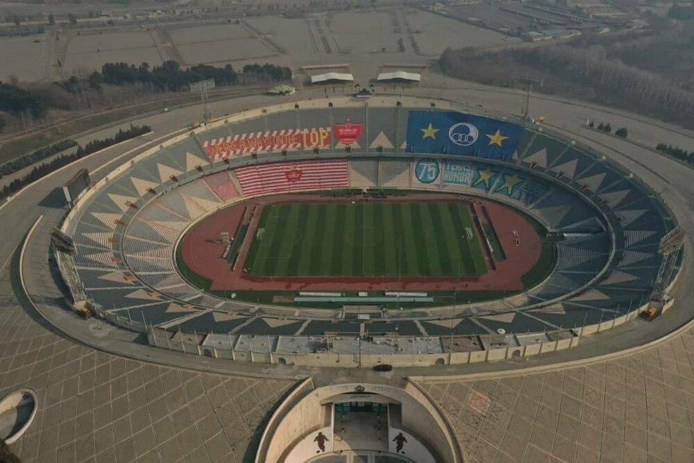 نمایی دیدنی از ورزشگاه آزادی در آستانه دربی ۹۴/عکس