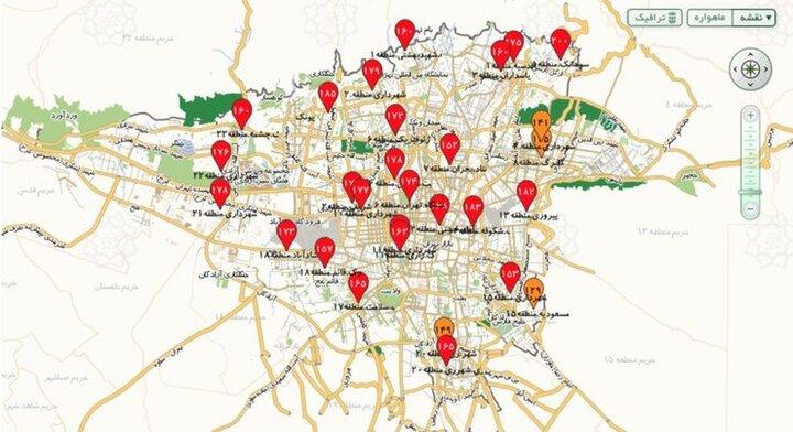هوای تهران همچنان در وضعیت قرمز/ شاخص کیفی روی ۱۶۷ قرار گرفت