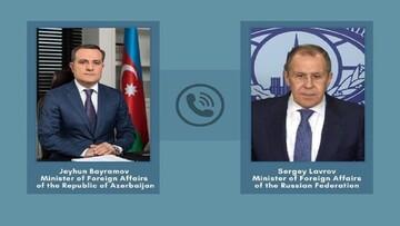 وزرای خارجه آذربایجان و روسیه تلفنی گفت و گو کردند