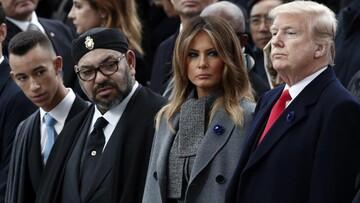 """ترامپ هم تلافی کرد/ اعطای نشان درجه یک """"لیاقت"""" به پادشاه مراکش"""