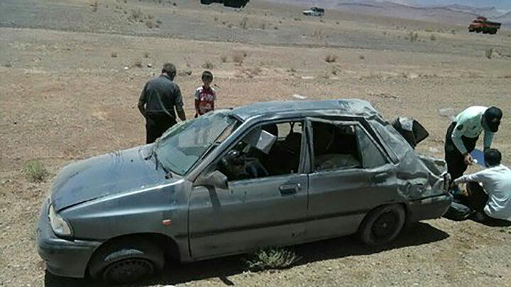 تصادف مرگبار جوان اصفهانی در اثر واژگونی پراید