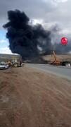 حادثه مرگبار انفجار تریلی حامل سوخت در جاده ارومیه / فیلم