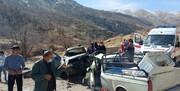 تصادف مرگبار دو خودرو در جاده یاسوج- دهدشت / تصاویر