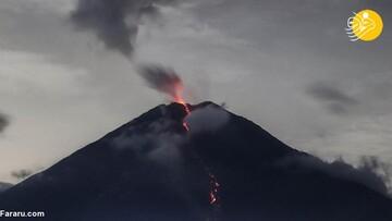 انفجار کوه آتشفشان سمرو در اندونزی / تصاویر