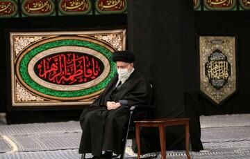 آخرین شب عزاداری فاطمیه با حضور رهبر انقلاب /عکس