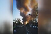 تصاویری از لحظه آتشسوزی در خیابان شوش تهران /فیلم