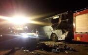 تصادف مرگبار و خونین اتوبوس با تریلی در محور دامغان-سمنان