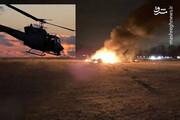 سقوط هلکوپتر نظامی پس از تحلیف بایدن/ فیلم