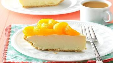 چیز کیک پرتقالی متفاوت +طرز تهیه