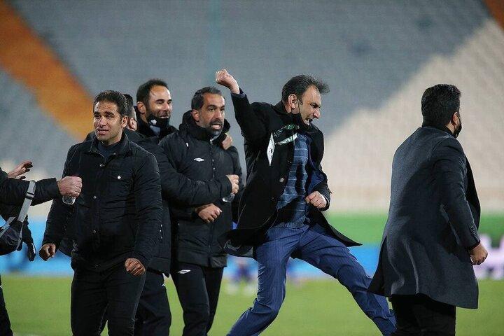شادی عجیب سرپرست سایپا پس از پیروزی مقابل استقلال/عکس
