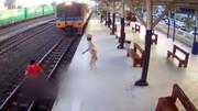 لحظه دلخراش خودکشی زن زیر قطار/ فیلم